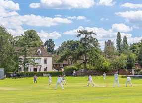 Cricket on the green at Bearsted