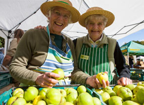 Two ladies at the Apple Weekend at Kent Life