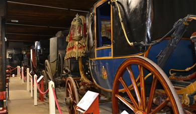 Inside Maidstone Carriage Museum