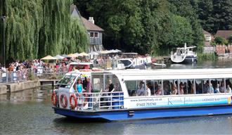Kentish Lady River Boat at Allington Lock