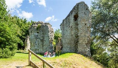 The remains of Sutton Valence Castle