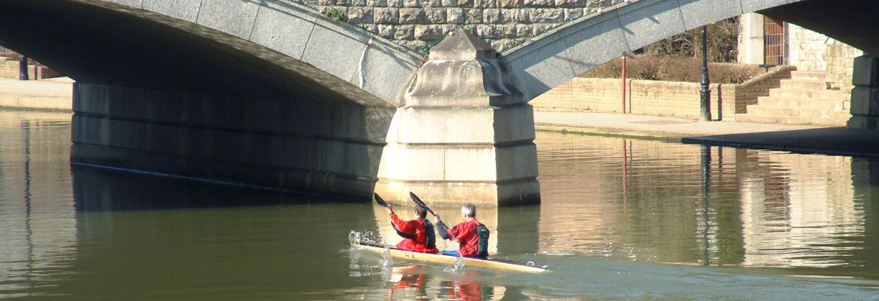 Canoeists on River Medway