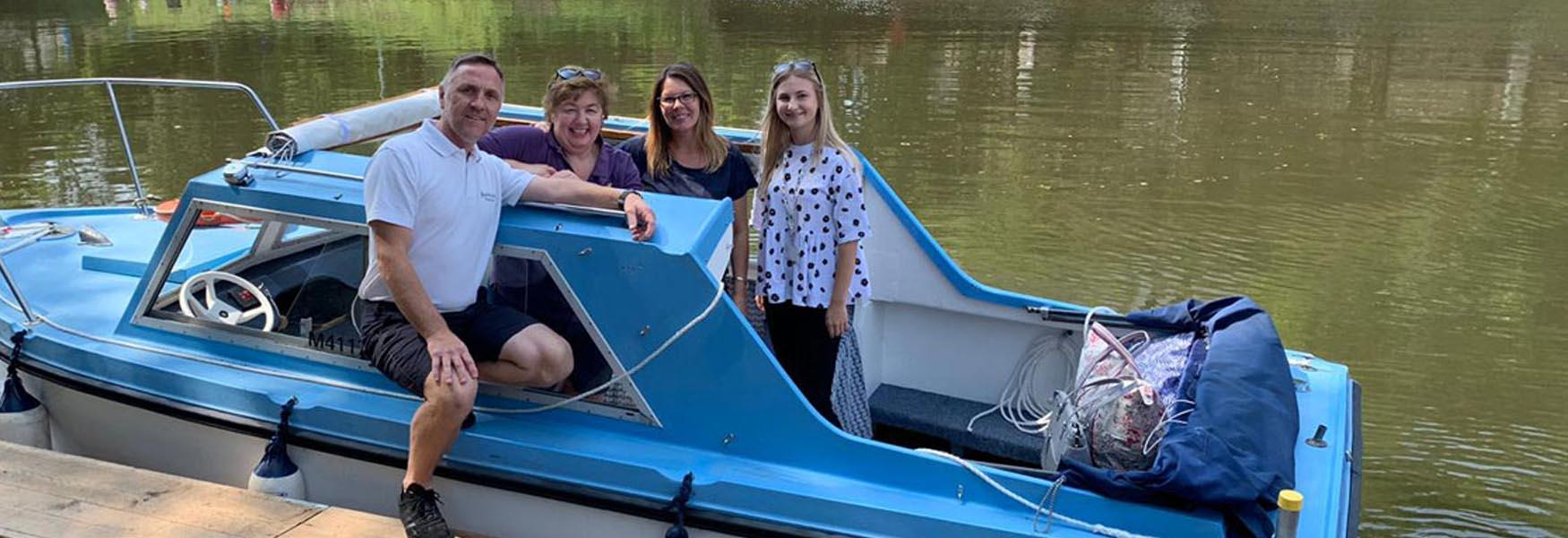 Brand New in 2019 - Self-drive boat hire for all the family