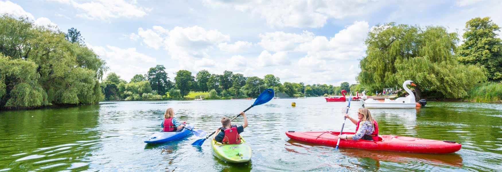 Water adventures on Mote Park Lake