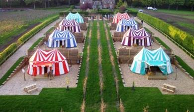 Glamping; Leeds Castle; Knight's Tents
