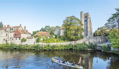 Historic Maidstone, Medieval quarter, All Saints Church, River Medway, Archbishops' Palace