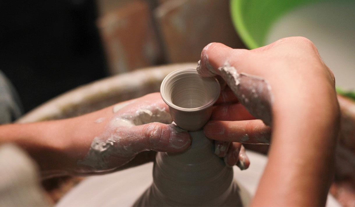 Have a go at wheel throwing and creating your own pottery as parent and child at This Art of Mine.