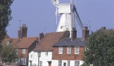 The Cranbrook Union Mill overlooking the pretty and historic Wealden market town of Cranbrook, Kent near Tunbridge Wells