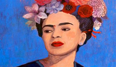 Painting inspired by Frida Kahlo for young adults at This Art of Mine.