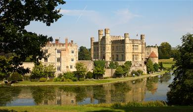 Leeds Castle from the restaurant