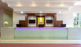 Reception and hotel front desk.