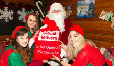 Santa's Arrival at Notcutts Maidstone Garden Centre