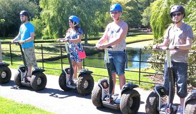 Segways at Leeds Castle