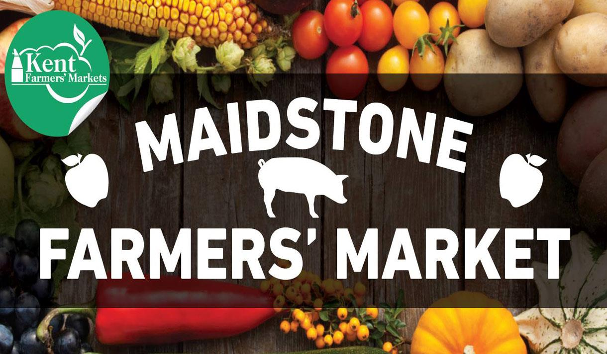Maidstone farmers' market selling delicious local fresh produce.
