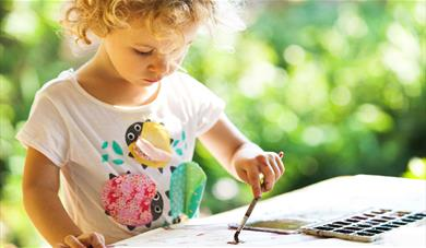 Summer holiday art workshops for under 5's.
